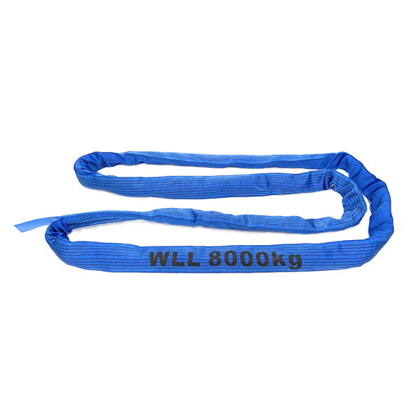 Blaue einlagige Polyester-Rundschlinge 1 Tonne