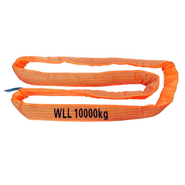 Orange einlagiger Bezug Polyester Rundschlinge 1 Tonne